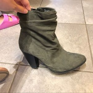 Maurices Shoes - Olive suede Booties